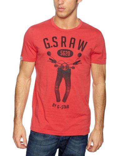 G-Star Basics Restany Short Sleeve Men's T-Shirt Wine Small
