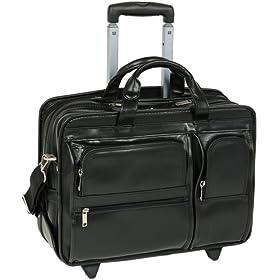 McKleinUSA Clinton 88445 P Series 17-Inch Detachable-Wheeled Laptop Case (Black)