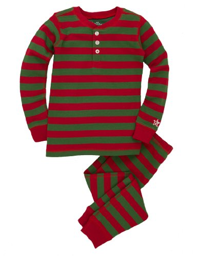 Hatley Big Boys' Pajama Set-Holiday Stripe, Multi Color, 8 front-388160
