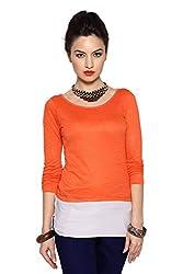 Akkriti By Pantaloons Women's Top(205000004490901_Burnt orange_Small)