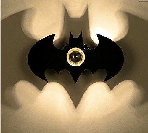 Excerando Lampada da parete creativo acrilico moderna LED Wohl Batman Ombra per Camera da letto, Scale, disimpegno e bambini lampada personalità camera