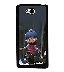 printtech Cartoon Character Back Case Cover for  LG L90