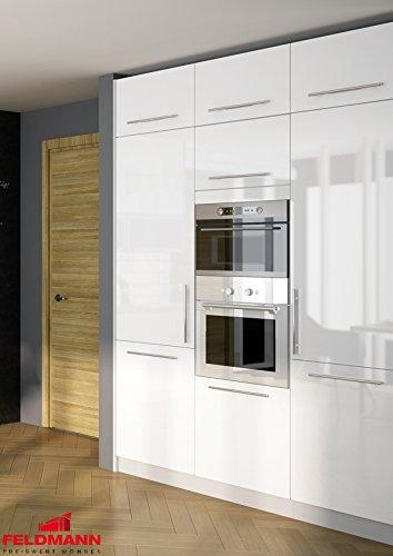 Kuchenblock 169034 Hochschränke 180cm grau / weiß Hochglanz