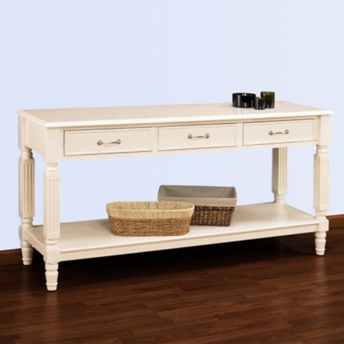 Cheap Hampton Console Table with Drawers (#HAMPCONSOLEW/DRAWERS)