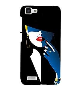 Colorful Woman Design 3D Hard Polycarbonate Designer Back Case Cover for VIVO Y27L :: Y 27L
