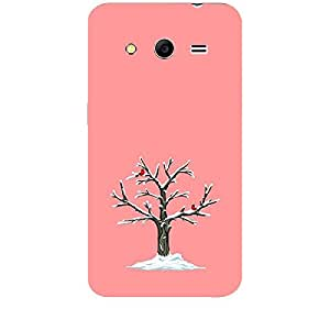 Skin4gadgets Winter Tree Colour - India Red Phone Skin for SAMSUNG GALAXY CORE 2 (G3556d)
