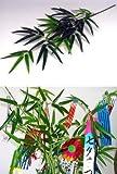 山久 七夕飾り お盆に 手入れ簡単 シルクフラワー 「笹竹」 (小サイズ 約73cm) CT触媒加工1606-0015-tanp
