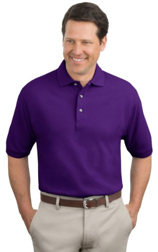 Port Authority Men'S Big And Tall Knit Polo Shirt_Purple_X-Large Tall front-121020