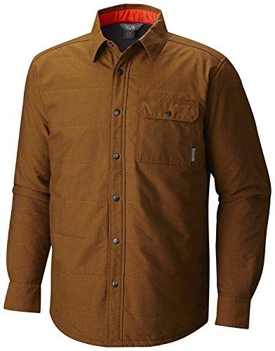 Mountain Hardwear uomo Yuba-Pass-Camicia/Giacca da lavoro uomo, foderato in pile, colore: oro, misura L, colore: marrone