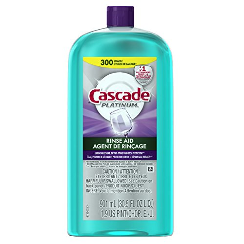 Cascade Rinse Aid Platinum, Dishwasher Rinse Agent, Regular Scent (Dishwasher Aid compare prices)