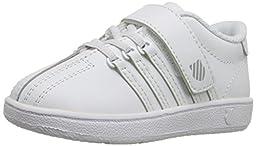 K-SWISS Classic VN Velcro Sneaker (Infant/Toddler/Little Kid/Big Kid), White/White, 3 M US Infant