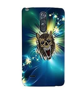 Fuson Evil Bat Sparkle Pattern Back Case Cover for LG G3 STYLUS - D3784
