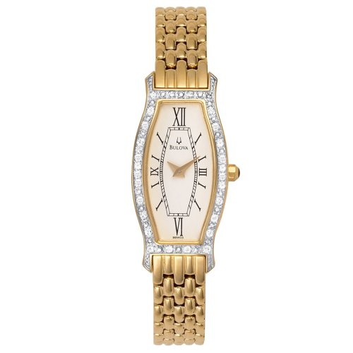Bulova Women'S 98W03 Diamond Gold-Tone Steel Watch