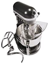Big Sale KitchenAid KP26M1XDP Professional 600 Series 6-Quart Stand Mixer, Dark Pewter