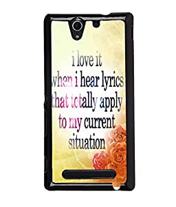 Fuson Meaningful Text Back Case Cover for SONY XPERIA C3 - D3870