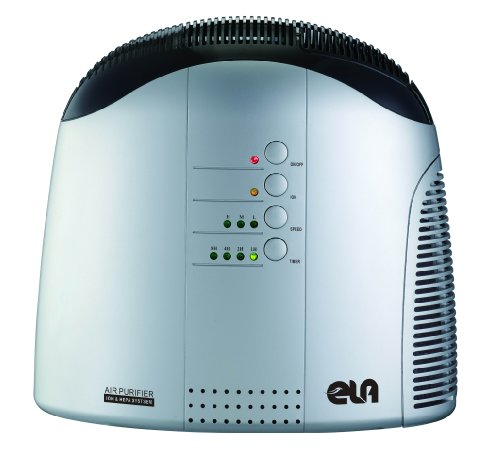 DiO68801 HEPA Air Purifier with Ionizer  &  Apple Scent Cartridge. Silver finish