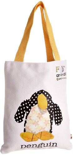 Fabric Animals Women's Penguin Book Bag With