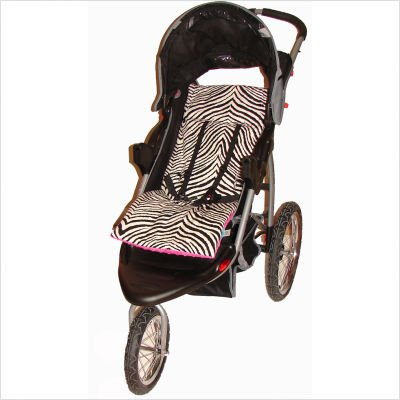 Tivoli Couture Luxury Plush Reversible Stroller Liners in Zebra and Hot Pink