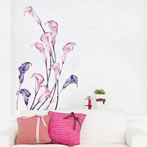 Great Value Wall Decor Calla Pattern Graffiti Removable Wallpaper by Mzamzi