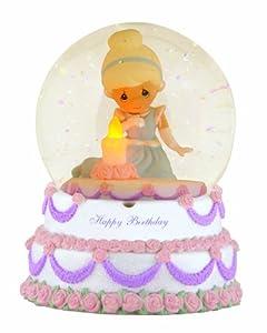 Precious Moments Cinderella Happy Birthday Musical Water Globe Figurine