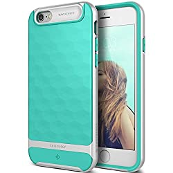 iPhone 6S Case, Caseology [Parallax Series] [Wavelength DIA] Textured Pattern Grip Case [Turquoise Mint] [Shock Proof] for iPhone 6S (2015) - Turquoise Mint