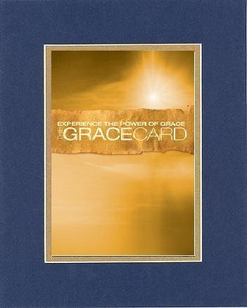 Inspirational Plaques - Experience The Power Of Grace - The Grace Card. . . 8 X 10 Inches Biblical/Religious Verses Set In Double Beveled Matting (Blue On Gold) - A Timeless And Priceless Poetry Keepsake Collection