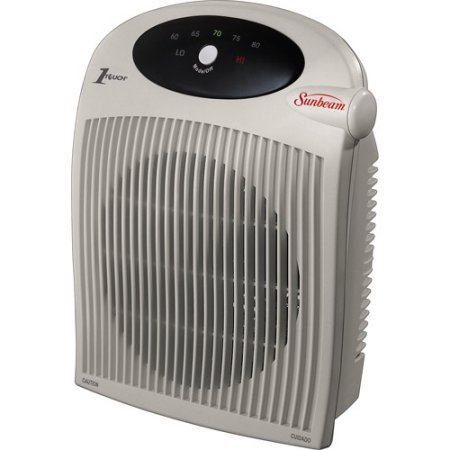 SunBeam Electric Portable Cozy Space Heater Fan with ALCI Safety Plug (Sunbeam Heating Blanket Cord compare prices)