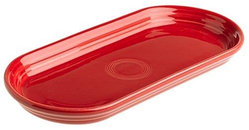 Fiesta 12-Inch by 5-3/4-Inch Bread Tray, Scarlet