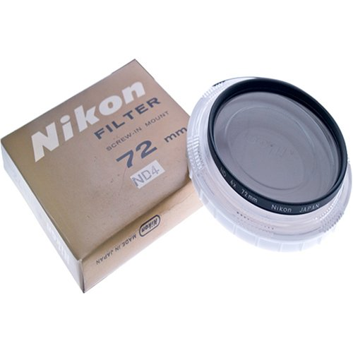 Nikon 72mm Neutral Density ND-4X ND4 Screw-in Mount Glass Filter Product 2410B0000BVDM7