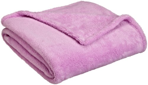 Northpoint Faux Fur Throw Blanket, Light Purple front-893057