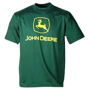 John deere basic t shirt green large clothing for John deere shirts for kids