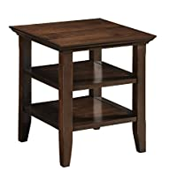 Simpli Home Acadian End Table, Rich T…