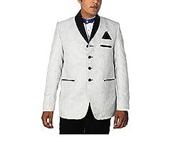 China Collection Men's Grey Jute Blazer (36)