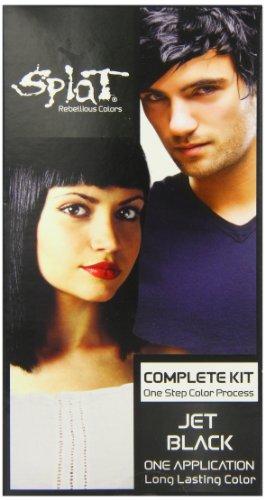 Splat Rebellious Colors Hair Coloring Kit Jet Black
