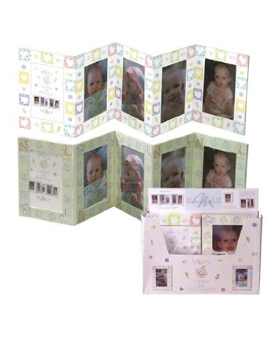 Malden International 8 Opening 4x6 Baby Tray Pk. Picture Album Accordion Display Assortment - 1