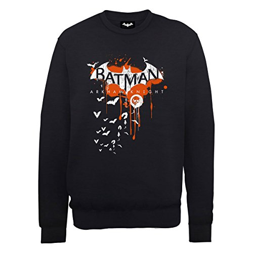 DC Comics Batman Arkham Knight Halloween Logo Art Sweatshirt - Black