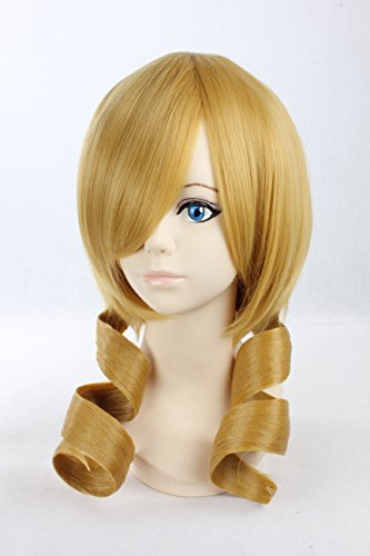Cosplay Wig Blonde Wig Medium Blonde Curly Wig Tomoe Mami Puella Magi Wigs