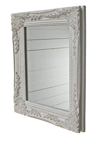 32x27x3cm-rechteckiger-Wand-Spiegel-handgefertigter-Vintage-Antik-Rahmen-aus-Holz-wei-inkl-Befestigung