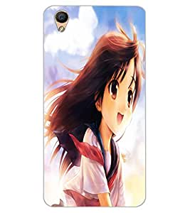 ColourCraft Beautiful Girl Design Back Case Cover for OPPO F1 PLUS