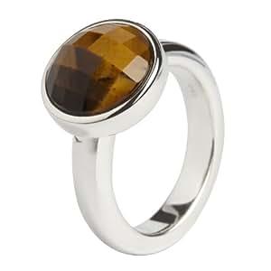 Muru Sterling Silver Tigers Eye Ring - Size N