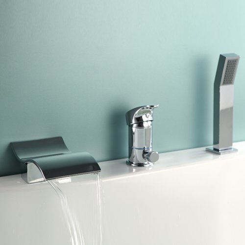 LightInTheBox Waterfall Widespread Bathtub Faucet with Hand Shower