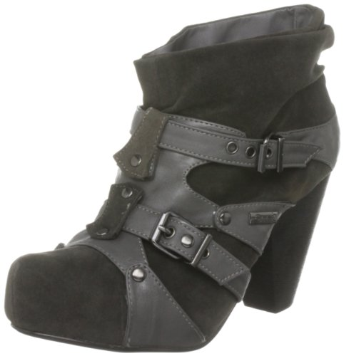 Glorious Women's Nebraska Bootie Heel Black Suedette 20005 5 UK