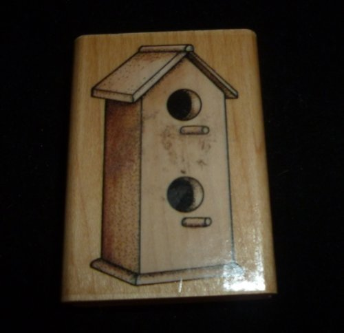 Large Birdhouse Rubber Stamp