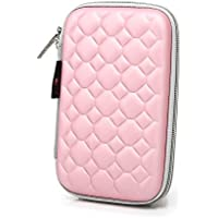 Hard Drive Disk Protective Zipper Carrying Shell Case Cover Bag For 2.5 Inch Portable External Hard Drive Pink... - B01GJNOB6K
