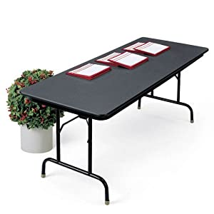 "Folding Table 72"" x 36"" Walnut/Black Frame"