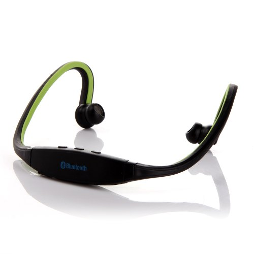 Masione™ Sport Wireless Stereo Bluetooth Headset Headphone -Built In Mic Handsfree Music Earbud For With Iphone 4 4S 5 5G Ipad 1 2 3 4 Ipad Mini Ipod Samsung Galaxy Smart Phones Tablets Laptops And Pcs (Green)