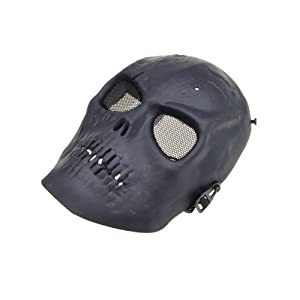 Black Skull Skeleton Mask Paintball Full Face Airsoft Army Game Protect