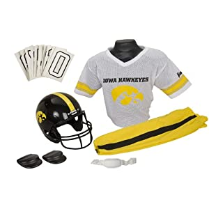 Franklin Sports NCAA Iowa Hawkeyes Deluxe Youth Team Uniform Set, Medium