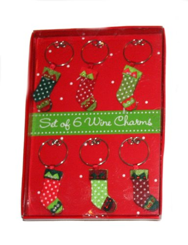 Holiday Stocking Wine Charms