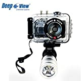 Waterproof housing 262ft/80m for Sony W630 + Flashlight LF300 3W